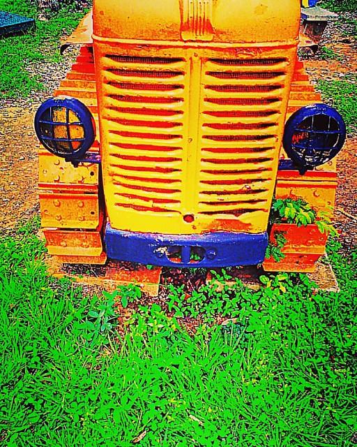 Reliquia amarilla y azules sin título