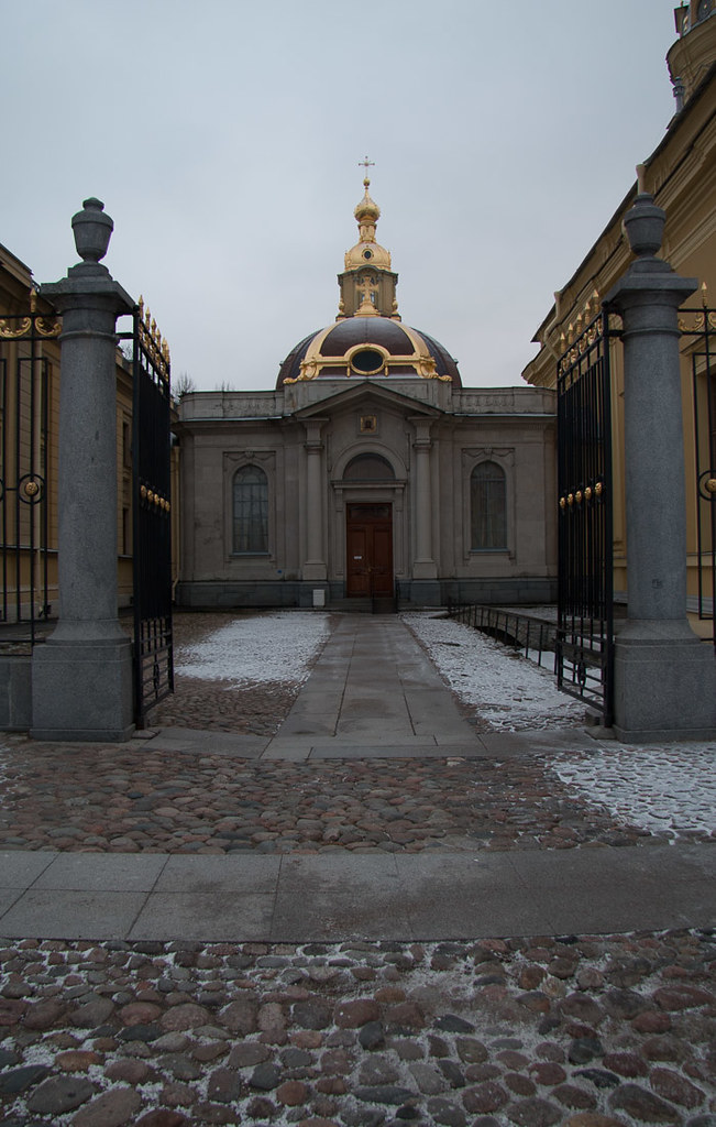 Outside the St. Peter and Paul Fortress