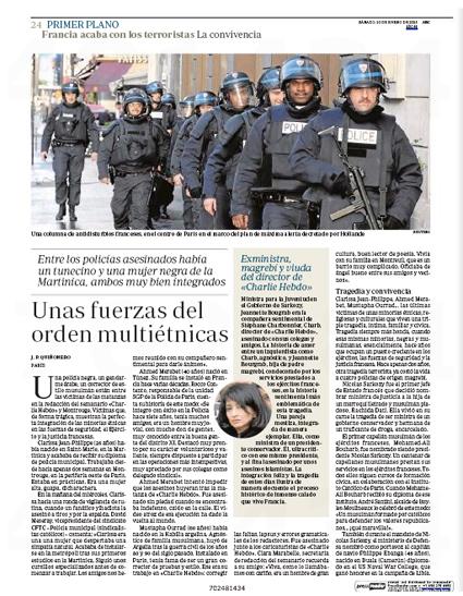 15a10 Francia Fuerzas de Seguridad del Estado multiétnicas Uti 425