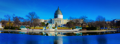 blue panorama usa building monument water pool america reflecting washingtondc us dc washington pond districtofcolumbia memorial war with view unitedstates general grant pano capital panoramic presidential capitol congress civil american dome vista
