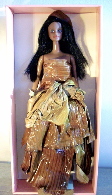 Banana leaf doll