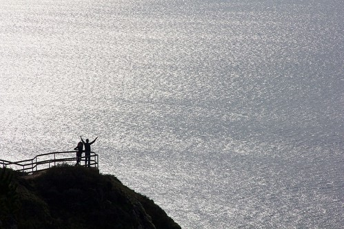 ocean california seascape silhouette landscape coast couple pacific shore overlook muirbeachoverlook