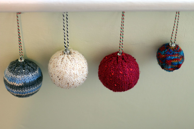 Hand Knitted Baubles