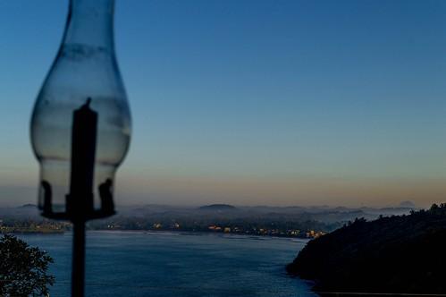 ocean morning mountains lamp sunrise bay candle srilanka