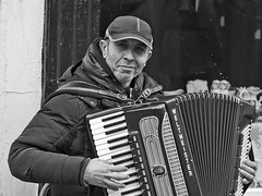 Accordion player, Canterbury
