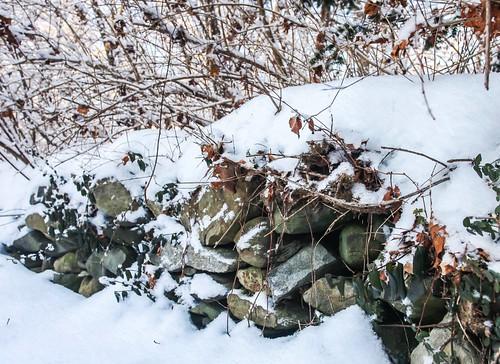 Stone wall in winter, 2015 by Peter Rintels, via I {heart} Rhody