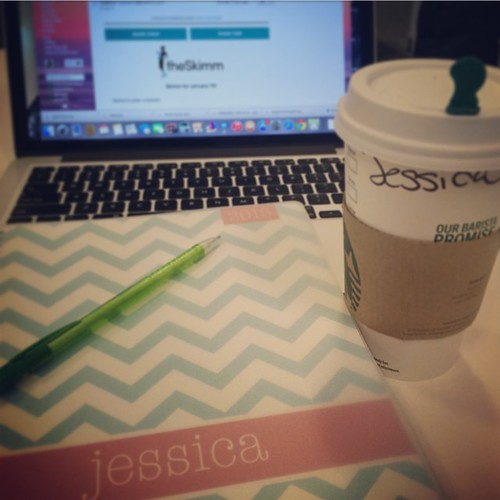 Happy first day back in the office. Got my caffeine and my new planner. Ready for a stellar 2015.