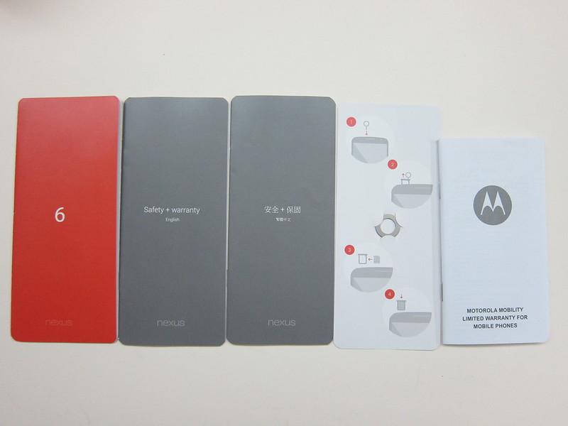 Nexus 6 - Box Contents (Instructions)