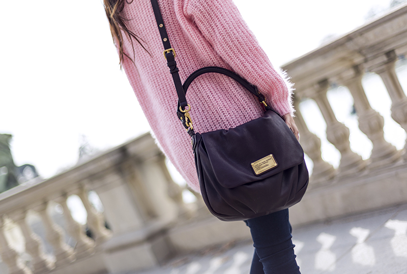 street style barbara crespo pink sweater sheinside she insider el retiro madrid fashion blogger outfit blog de moda
