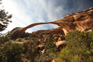 Fragile Landscape Arch, the largest arch in Arches National Park