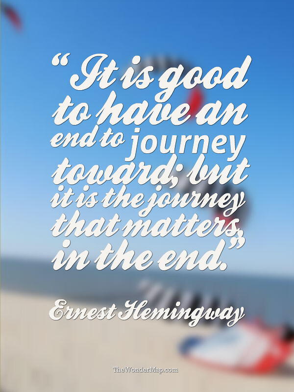 Traveling quote by Ernest Hemingway