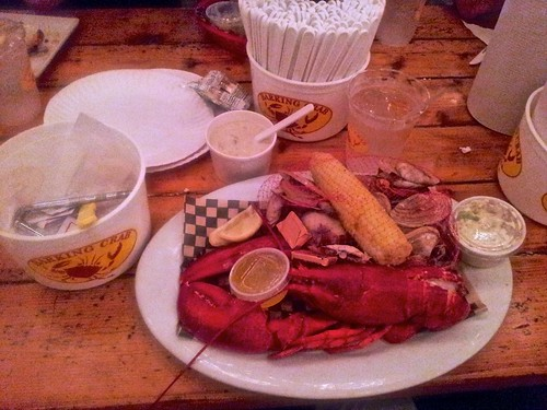 Lobster Bake meal and New England Clam Chowder