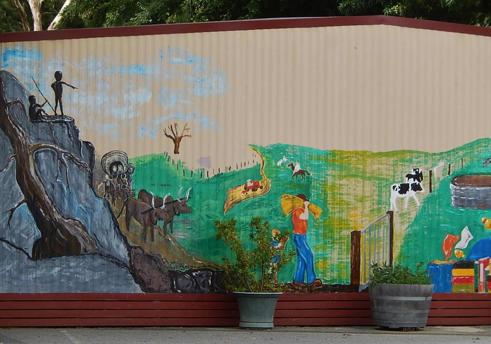 Brief history of australia in school mural flickr for Australian mural