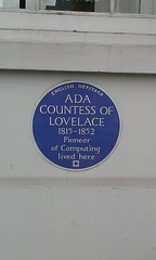 Photo of Ada Lovelace blue plaque