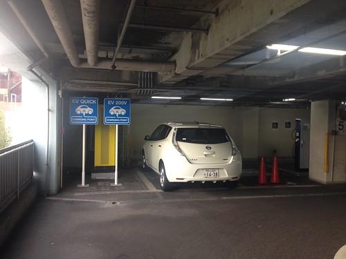 広島RCC文化センター (ホテルJALシティー)駐車場 EV充電設備