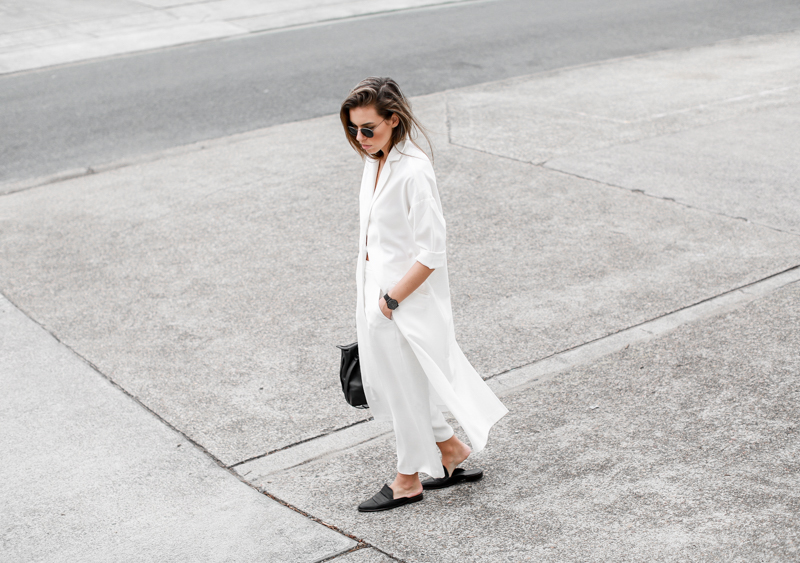 MODERN LEGACY fashion blog all white street style duster coat culottes  (1 of 1)