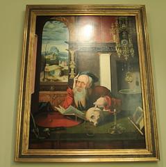 San Jerónimo en su estudio, taller de Joos van Cleve