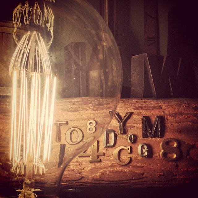 #bulb #light #steampunk #letters