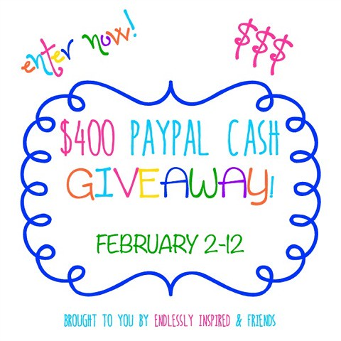 $400 PayPal Cash Giveaway - Enter for a chance to win!