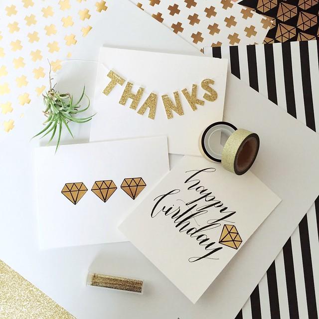 DIY cards, glitter card stock, you're a gem, seattle scrapbooking, seattle calligraphy, zebra g nib