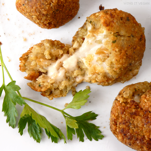 Cheese and Onion Stuffed Quinoa Arancini