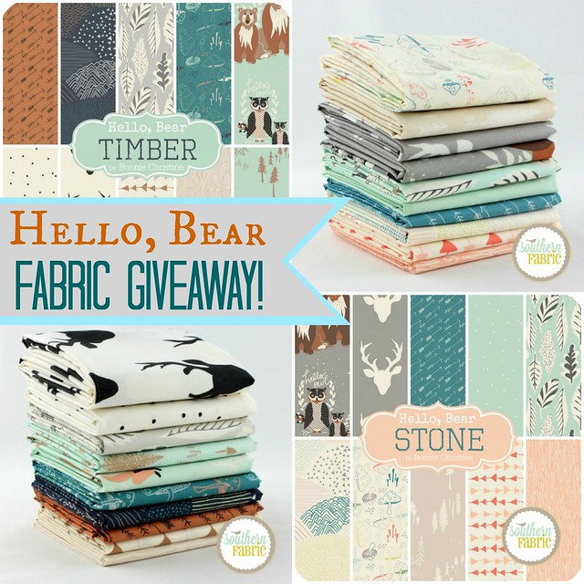 Hello, Bear Fabric GIVEAWAY!