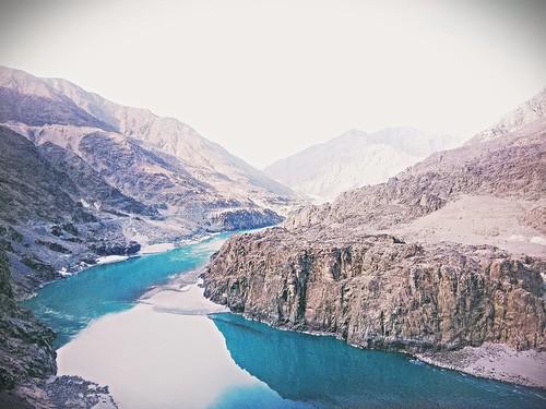 morning blue pakistan mountain art photoshop river construction phone anyone dam hill ak gb gilgit kpk aswome