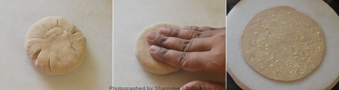 How to make Paneer paratha - Step2
