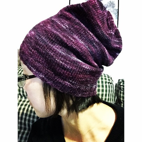 It needs a good blocking but my February hat is finished! Pattern is Brier Toque. #mskstashdownkal