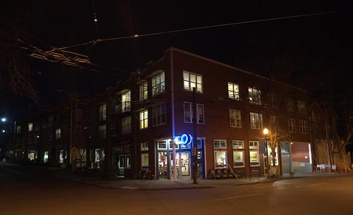 Madrona at Night:  Bowling Green Apartments/Mixed Use Development