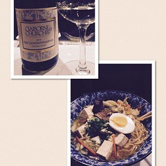 A #yummy meal at #Kanpai #pairing #Ramen with @CandCWinery dry #gewürztraminer #SoGood #delish