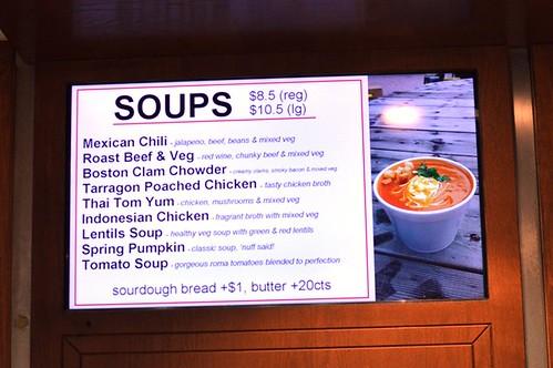 Soups menu