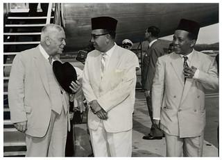 Walter Nash (New Zealand Prime Minister) & Abdul Razak Hussein (Malaysian Politician) in Kuala Lumpur -  1960