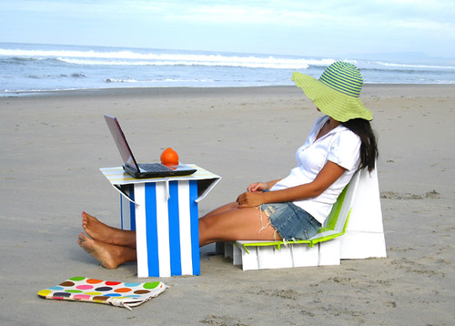 Cardboard Beach Furniture