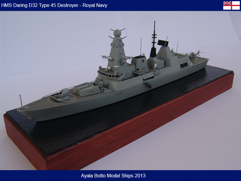 HMS Daring D32 Type 45 Destroyer Royal Navy - Cyber Hobby 1/700 16674217902_ce12a7179a_c