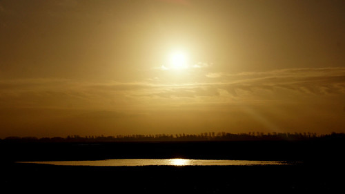 Vanmorgen waren er mooie ochtendluchten toen de zon net door kwam. Even later weer een hele donkere lucht - Greetje Sibon
