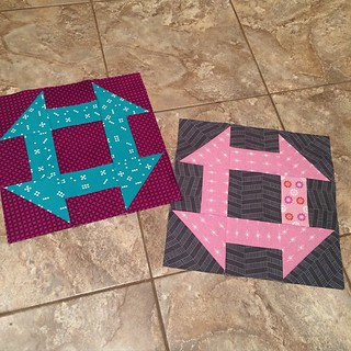 For you @graceandfavour #joycircle #dogoodstitches Churn Dash's are my favourite blocks!