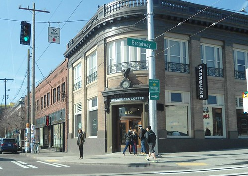 Starbucks on Broadway and Pike on Capitol Hill in Seattle, WA