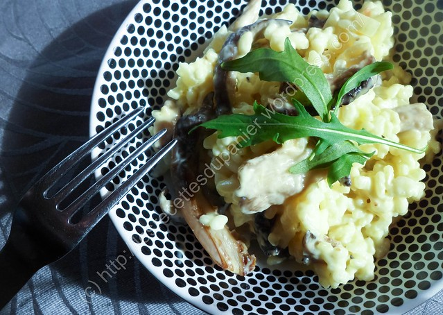 Risotto aux pleurotes / Oyster Mushroom Risotto