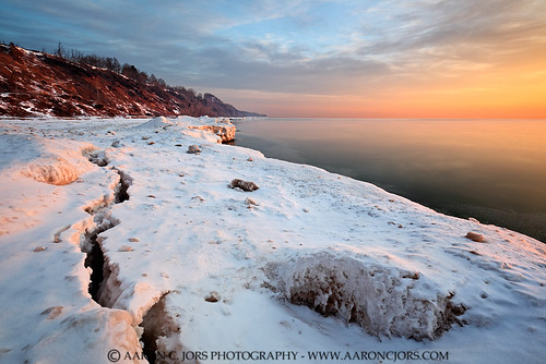 winter snow ice wisconsin shorelines parks blues lakemichigan greatlakes oranges sunrises yellows bluffs wi lakepark portwashington lakemichiganshoreline ozaukeecounty