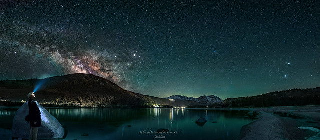 Milky Way view 'Where the Waters and Sky become One..'