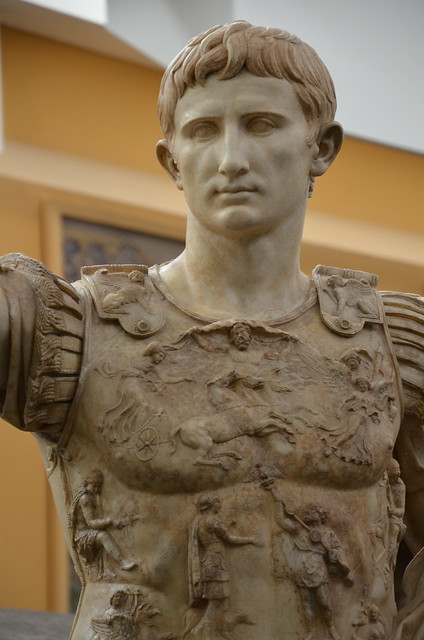 Augustus of Prima Porta, discovered in the Villa of Livia at Prima Porta, Musei Vaticani