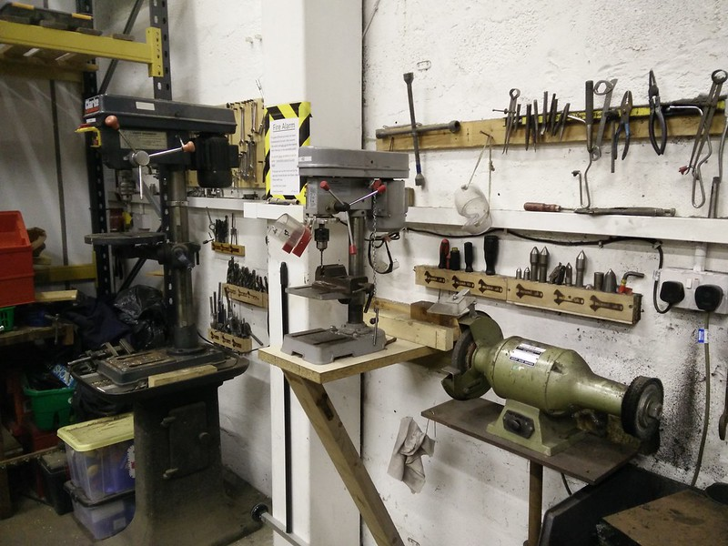 Drill Press and Grinder