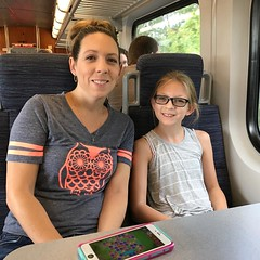 Headed to the State Fair on the train to avoid the horrible fair traffic.