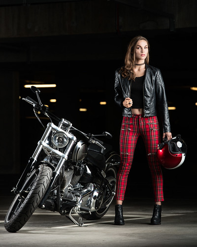 Harley Davidson & Model Shoot