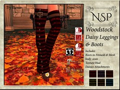 NSP Woodstock Daisy Leggings with Boot - V4