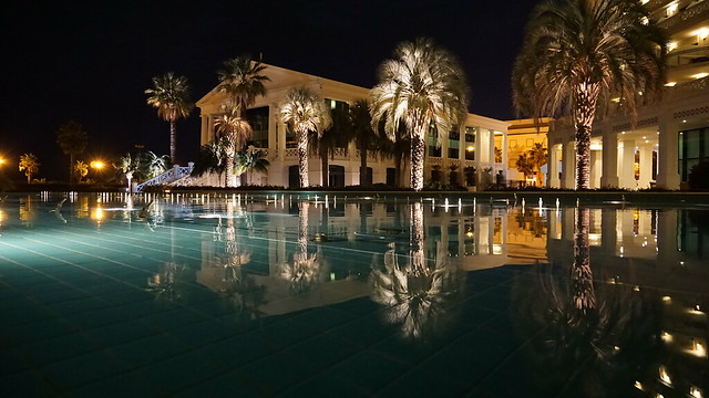 Hotel Balneario  Las Arenas at night - Valencia
