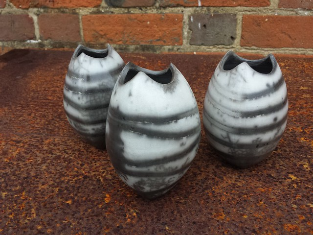 Three open seed forms #pottery