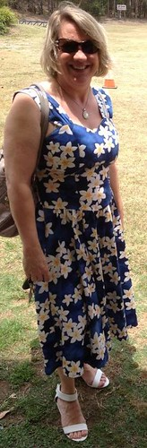 This Hawaiian print dress was an op shop bargain!