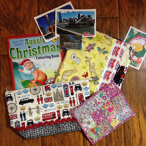 343:365 My #londoncallingswap package full of goodies arrived today. Thank you so much @alisonwhite31 - I love it all!! And I'm looking forward to sharing the coloring book with Megan tomorrow.